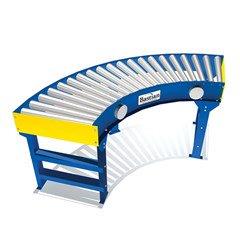 E24 Live Roller Curve Conveyor 24V DC