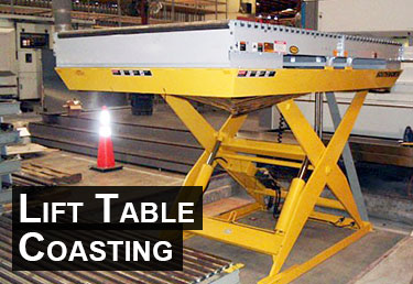 Fixing lift table coasting