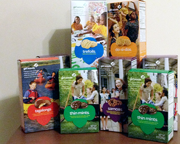 Girl Scout Cookie Sales and Material Handling