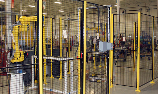 industrial robot safety fencing