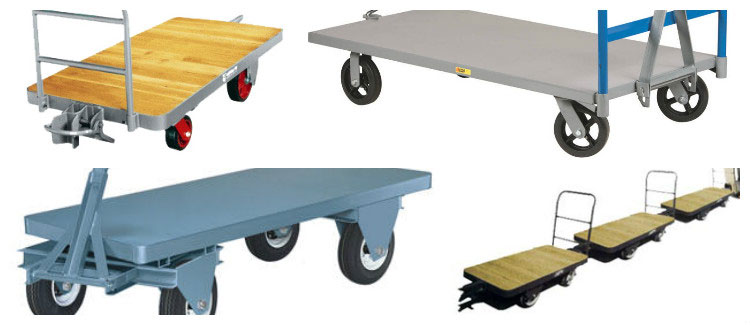 Industrial trailers for warehouses