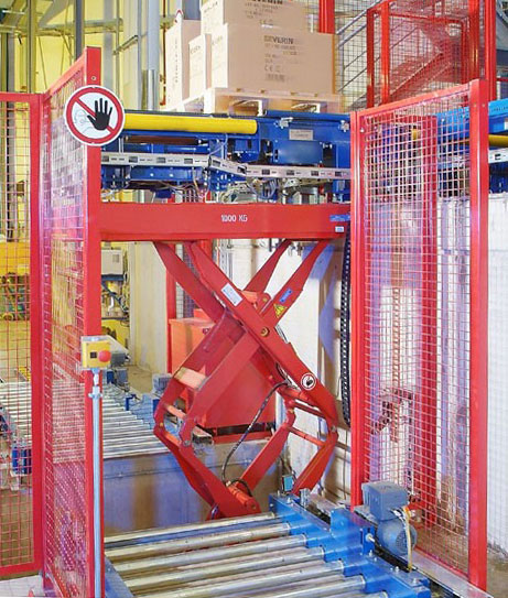 Lift table to conveyor configuration