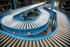 Powered Roller Conveyor in a DC