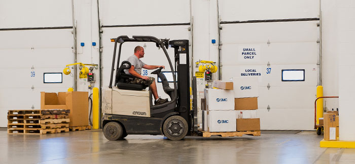 Safety hazards in warehouse receiving