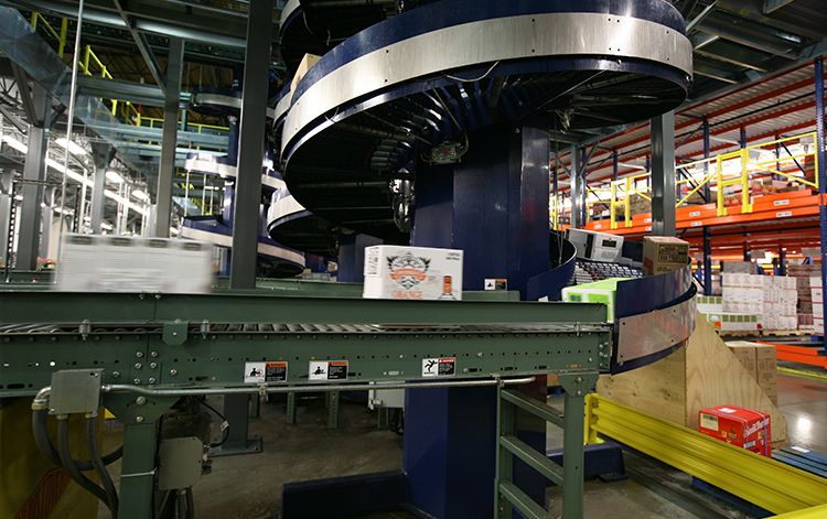 Spiral Conveyor Material Handling Automation Bastian